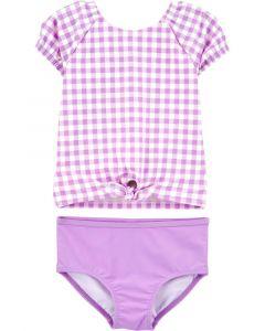 Carter's vestido de baño  violeta con cuadros