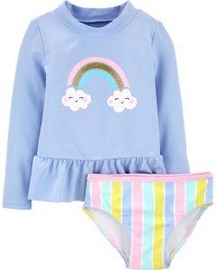 Carter's vestido de baño de nubes y arcoiris
