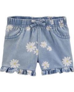 Carter's short jeans con flores