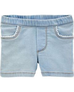 Carter's short jeans azul claro