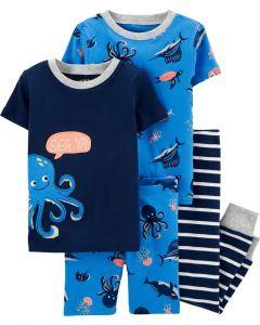 Carter's 4 piezas pijamas pulpo