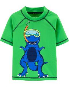 Carter's camisa de baño verde con dinosaurio