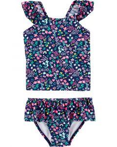Carter's set 2 piezas vestido de baño flores