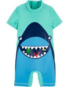 Carter's vestido de baño de tiburón