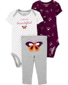 Carter's set 3 piezas mariposa