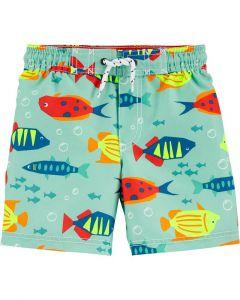 Carter's short de baño azul con peces
