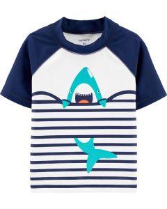 Carter's camisa de baño azul con tiburón
