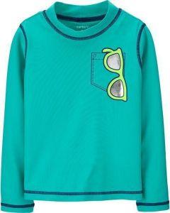 Carter's camisa de baño verde con lentes
