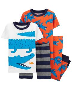 Carter's set 4 piezas pijamas con dinsaurios