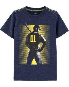 Carter's t-shirt azul con beisbolista