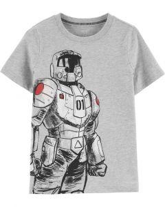 Carter's t-shirt gris con robot