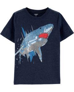 Carter's t-shirt azul con tiburón