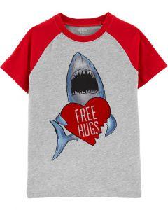 Carter's t-shirt de tiburón con corazón