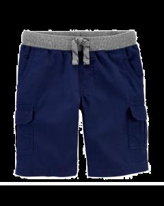 Carter's short azul con gris