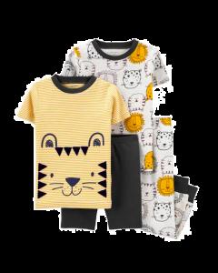 Carter's set 4 piezas pijamas león