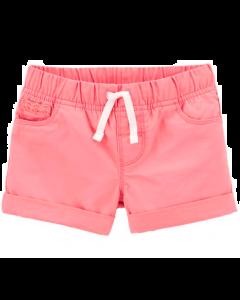 Carter's short rosado con blanco