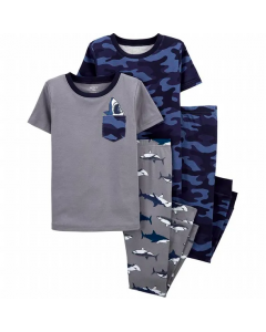 Carter's  set de 4 pijamas camuflaje