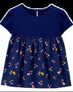 Carter's top con mariposas azul