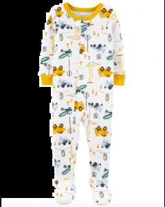 Carter's pijama con pie de carritos