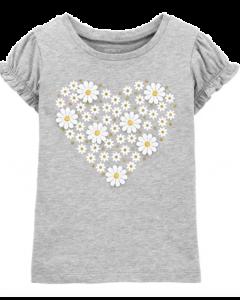 Carter's t-shirt gris con flores