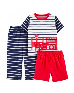 Carter's set 3 piezas pijamas bomberos