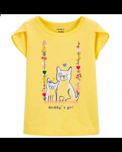 Carter's t-shirt amarilla con gatitos