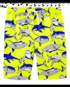 Carter's short de baño amarillo tiburón