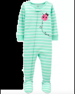 Carter's pijama de rayas con coquito