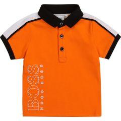 Hugo Boss polo naranja blanco y negro