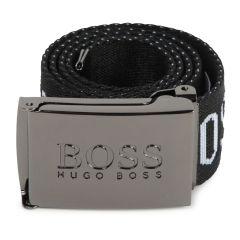 Hugo Boss Correa negra con hebilla metálica