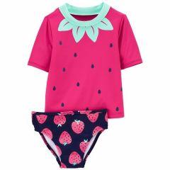Carter's vestido de baño 2 piezas fresa
