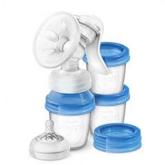 Avent Extractor de leche manual con 3 recipientes